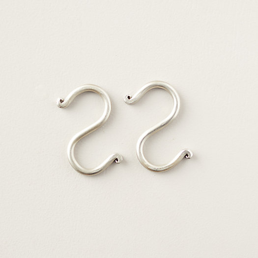 """View larger image of Nickel Forged Iron Link 2 Hooks, 3"""" Set of 2"""