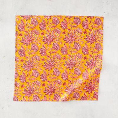 Sunset Flowers Cotton Napkin
