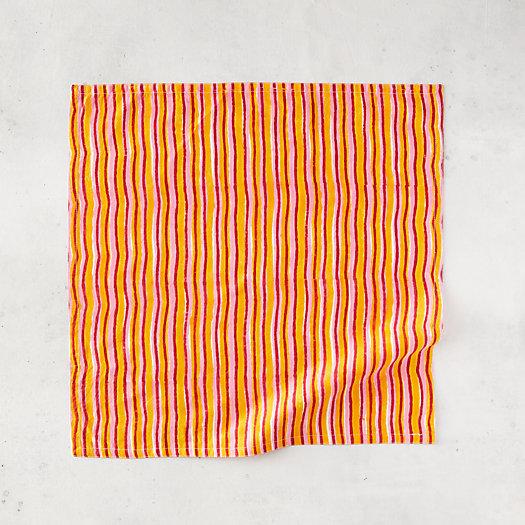 View larger image of Sunset Stripe Cotton Napkin