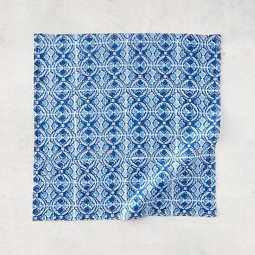 View larger image of Azure Deco Cotton Napkin