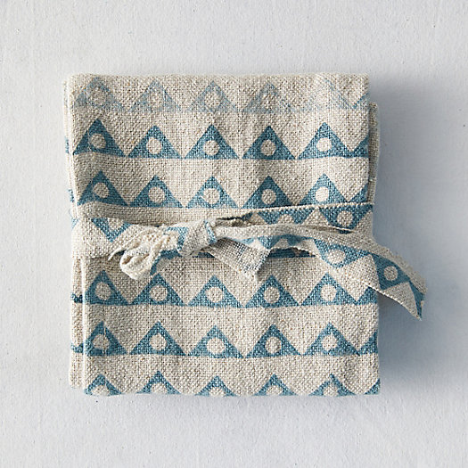 View larger image of Angles + Spheres Linen Napkin