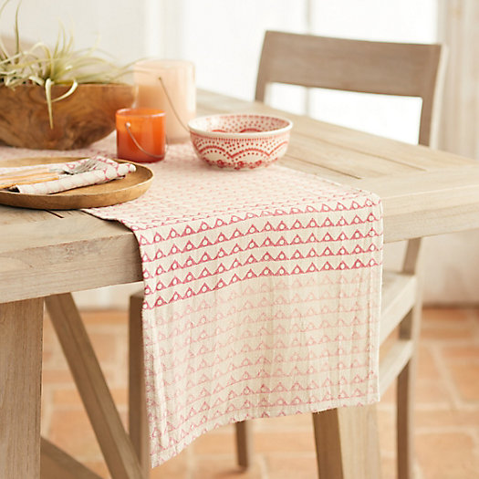 View larger image of Angles + Spheres Linen Runner