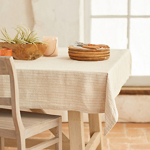 View larger image of Ripples Linen Tablecloth