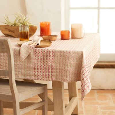 Angles + Spheres Linen Tablecloth
