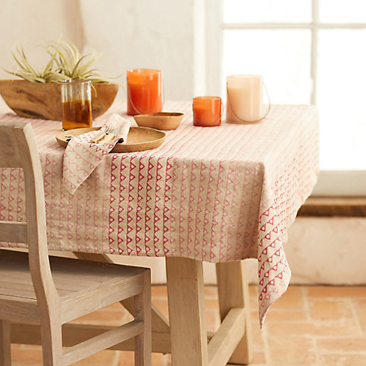 View larger image of Angles + Spheres Linen Tablecloth