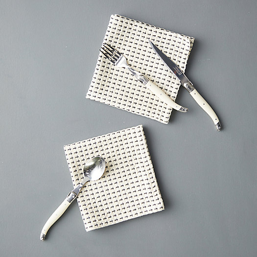 View larger image of Waffle Weave Cotton Napkins, Set of 2