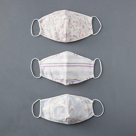 View larger image of Reusable Organic Cotton Face Masks, Spring Blue Set of 3