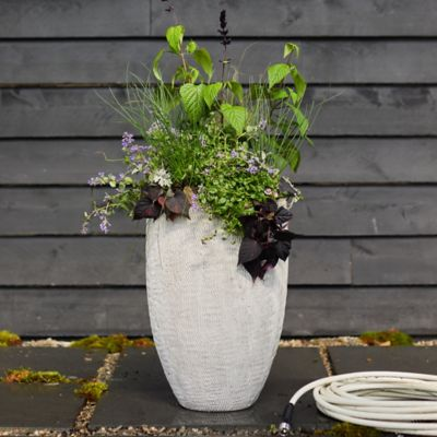 Tall Textured Fiber Cement Planter