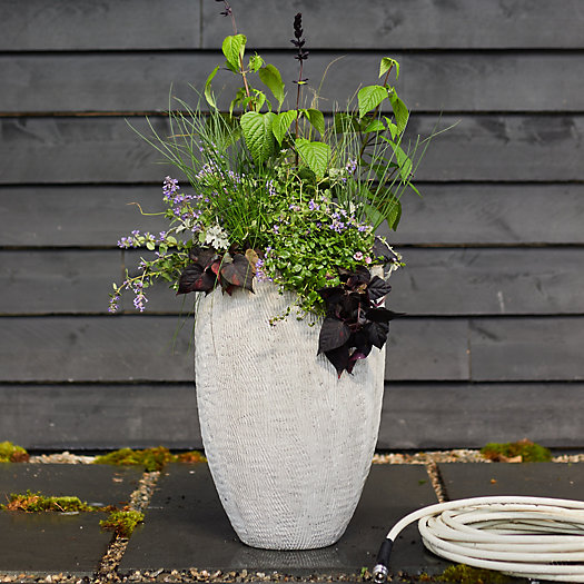 View larger image of Tall Textured Fiber Cement Planter