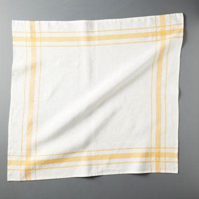 Plaid Edge Linen Dish Towel