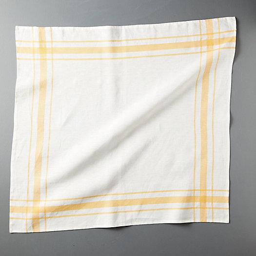 View larger image of Plaid Edge Linen Dish Towel