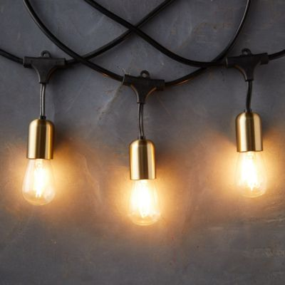 Commercial LED Light Strand, Brass