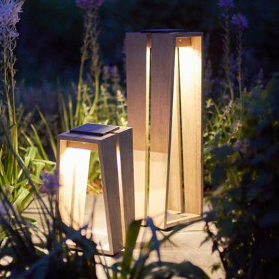 Teak LED Solar Lantern