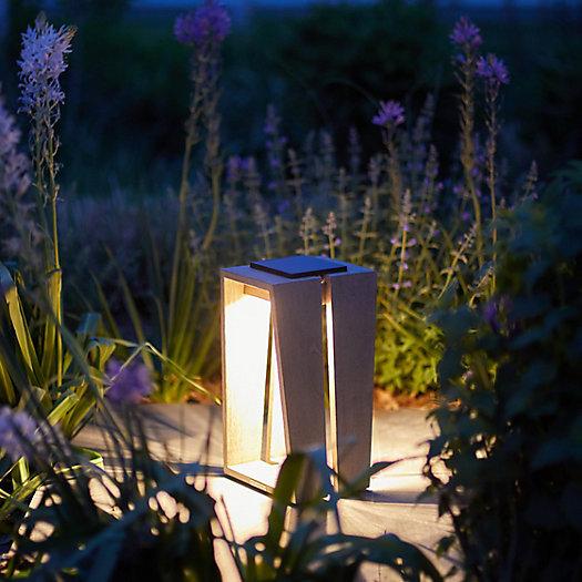 View larger image of Teak LED Solar Lantern