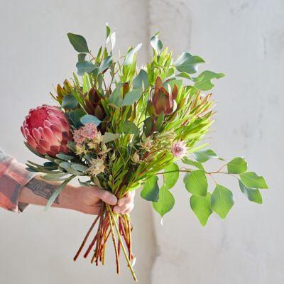 Protea, Serruria + Eucalyptus Bouquet