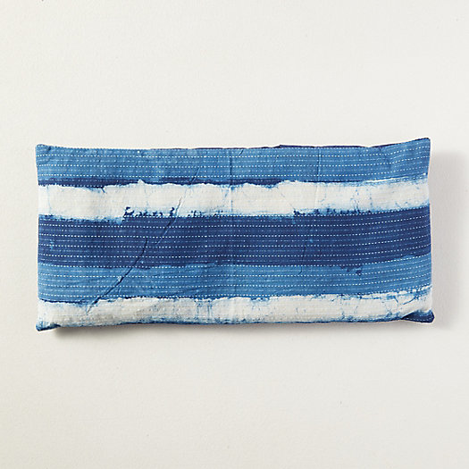 View larger image of Lavender Spa Pillow, Indigo Stripe
