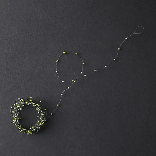 View larger image of Beaded Garland, Green