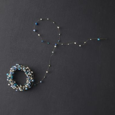 Beaded Garland, Blue