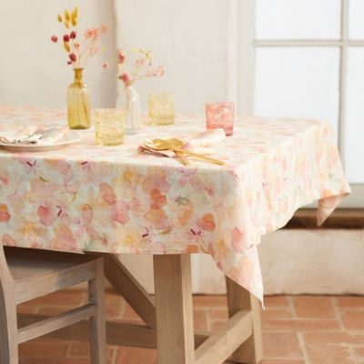 Tangerine Floral Tablecloth