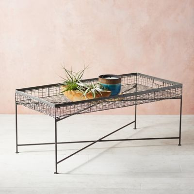 Wire Basket Coffee Table