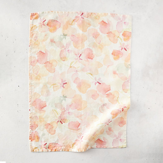 View larger image of Tangerine Florals Linen Dish Towel