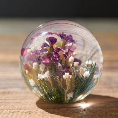 Resin Paperweight, Mixed Flora