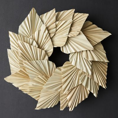 Preserved Palm Spear Wreath