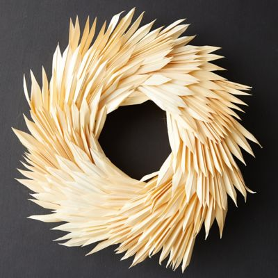 Preserved Sun Palm Wreath