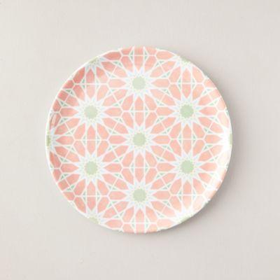 Melamine Dinner Plate, Pink Blooms