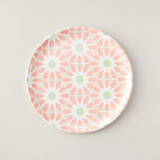 View larger image of Melamine Dinner Plate, Pink Blooms