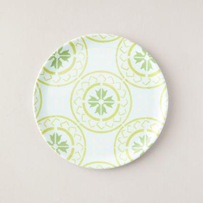 Melamine Dinner Plate, Green Tile