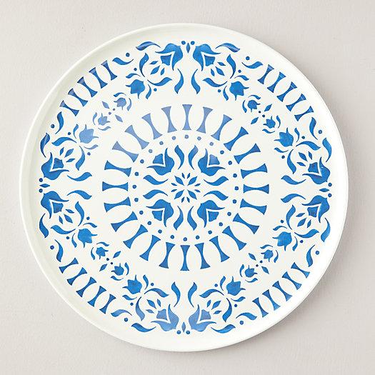 View larger image of Melamine Serving Platter, Blue Tile