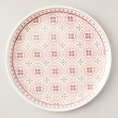 Melamine Serving Platter, Coral Tile