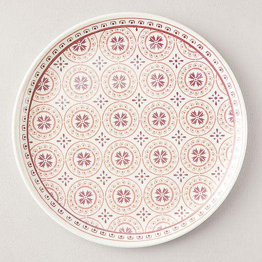 View larger image of Melamine Serving Platter, Coral Tile