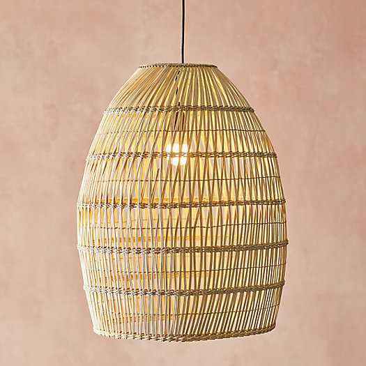 View larger image of Woven Rattan Wave Pendant, Large