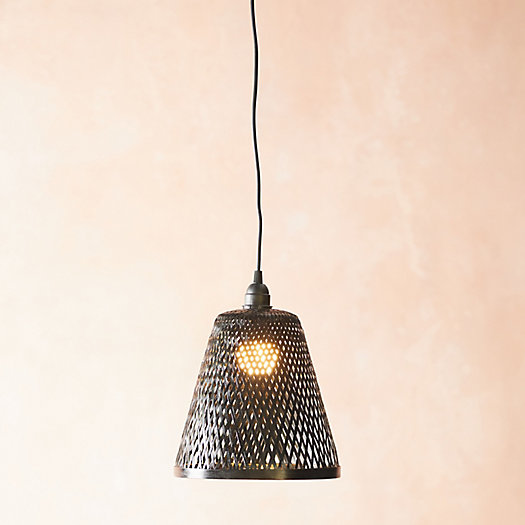 View larger image of Black Woven Rattan Pendant