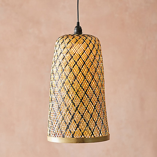View larger image of Tall Woven Rattan Pendant