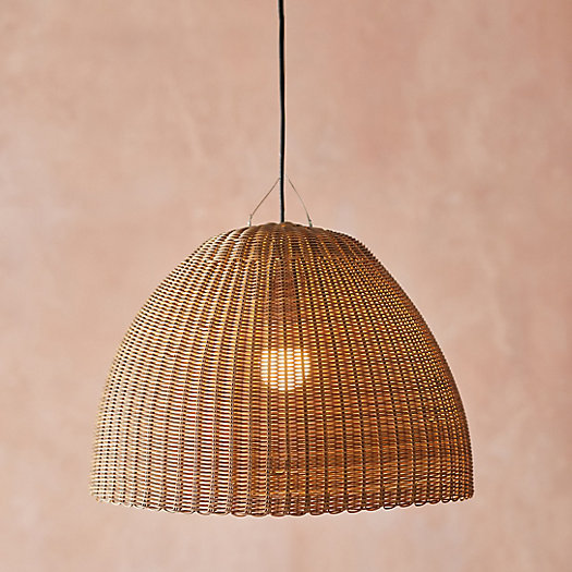View larger image of Outdoor Woven Faux Rattan Pendant