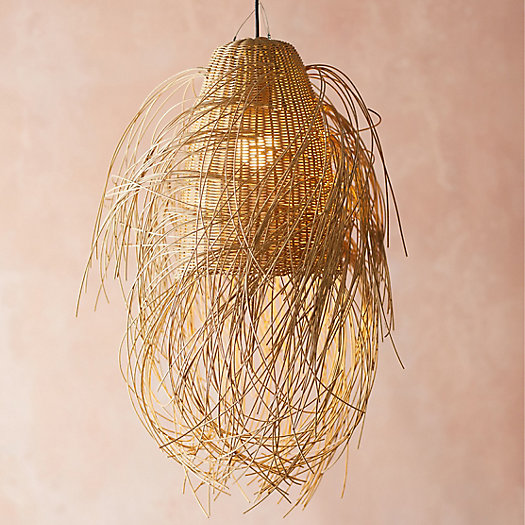 View larger image of Outdoor Fringe Faux Rattan Pendant
