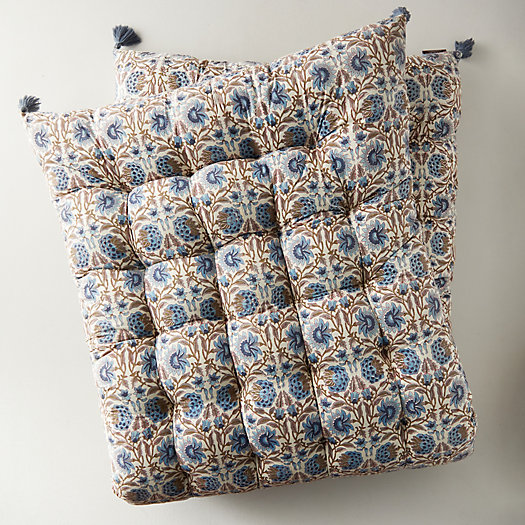 View larger image of Tufted Outdoor Cushion, Sky Floral