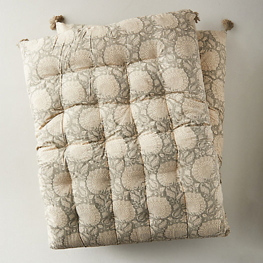 View larger image of Tufted Outdoor Cushion, Gray Paisley