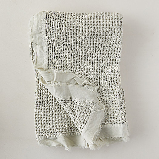 View larger image of Fringed Waffle Weave Throw