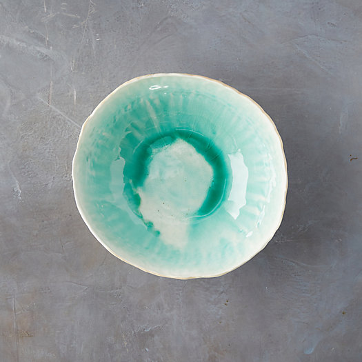 View larger image of Source and Tradition Teal Crackle Porcelain Bowl