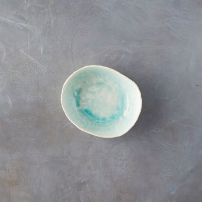 Source and Tradition Aqua Crackle Porcelain Pasta Bowl