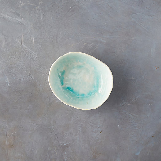 View larger image of Source and Tradition Aqua Crackle Porcelain Pasta Bowl