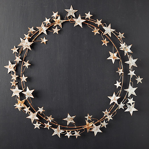 View larger image of Aged Iron Star Wreath