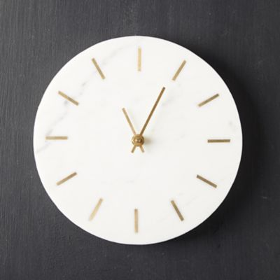 Marble + Brass Wall Clock