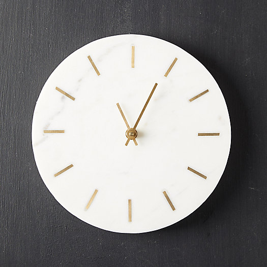 View larger image of Marble + Brass Wall Clock
