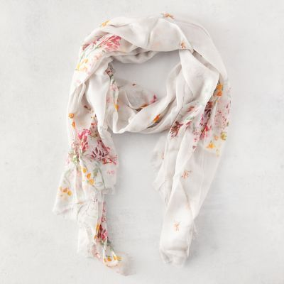Watercolor Wildflower Scarf