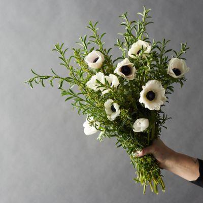 Fresh White Anemone + Eriostemon Bunch